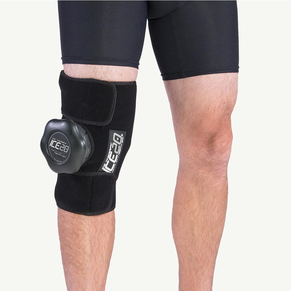 アイス20 Ice20 ユニセックス フィットネス・トレーニング 【Single Knee Ice Compression Wrap】Black