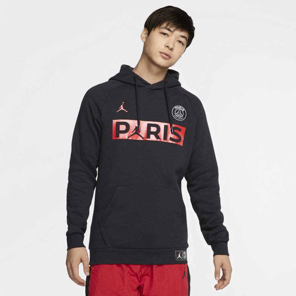 ナイキ ジョーダン Jordan メンズ フリース ジャンプマン トップス【PSG Jumpman Fleece Hoodie】Soccer International Clubs Paris Saint Germain Black/University Red