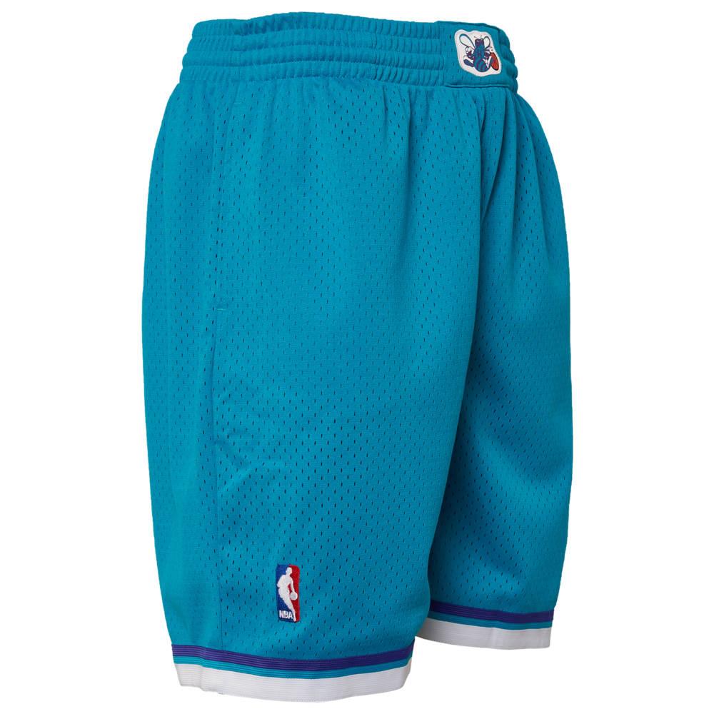 ミッチェル&ネス Mitchell & Ness メンズ バスケットボール ショートパンツ ボトムス・パンツ【NBA Swingman Shorts】NBA Charlotte Hornets Teal to