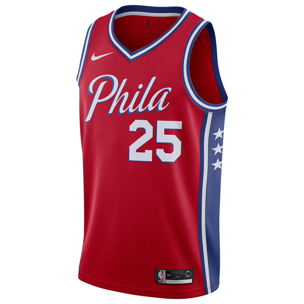 ナイキ Nike メンズ バスケットボール トップス【NBA Statement Swingman Jersey】NBA Philadelphia ers Ben Simmons University Red