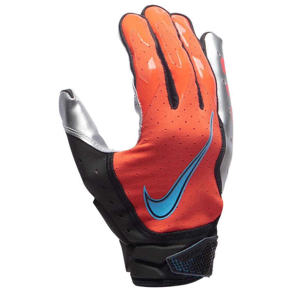 ナイキ Nike メンズ アメリカンフットボール グローブ【Vapor Jet 6.0 Football Gloves】Bright Crimson/Metallic Silver/Baltic Blue