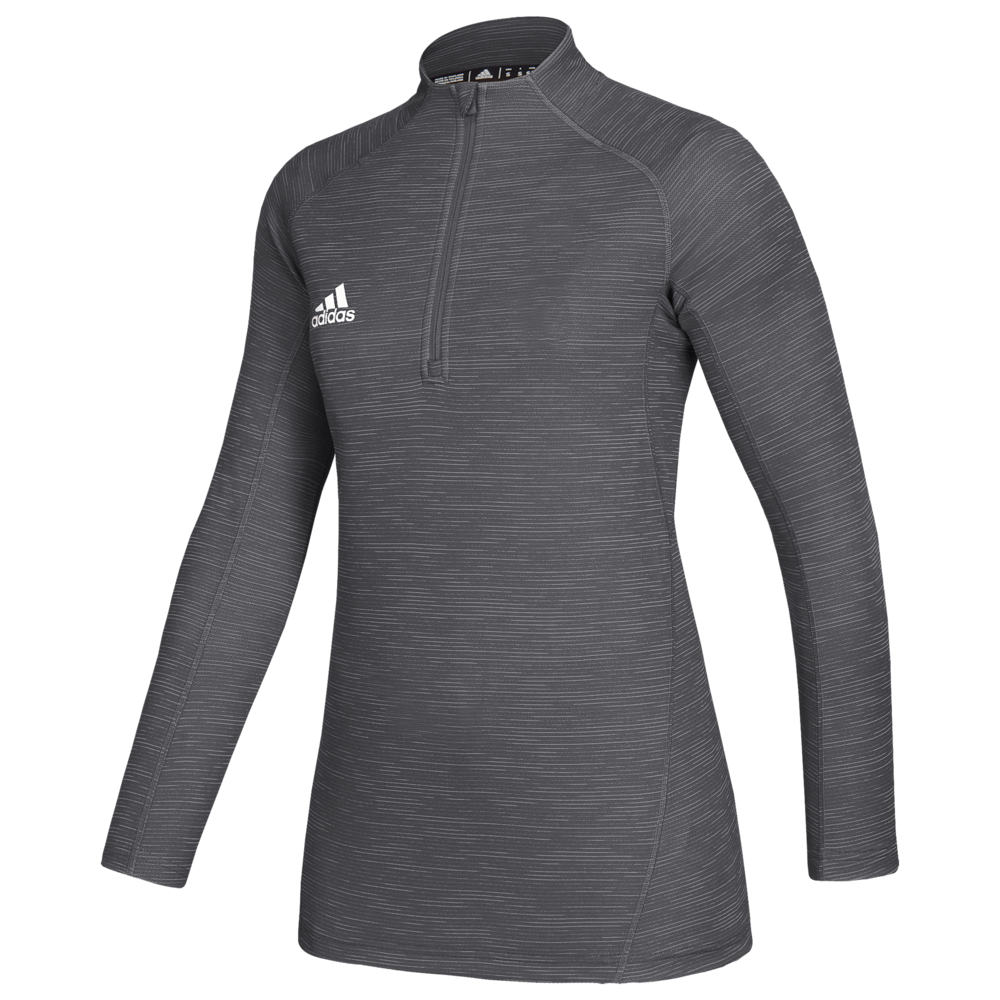 アディダス adidas レディース トップス 【Team Game Mode Performance 1/4 Zip】Grey Five Melange/White