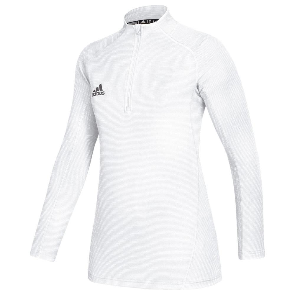 アディダス adidas レディース トップス 【Team Game Mode Performance 1/4 Zip】White/Grey Five
