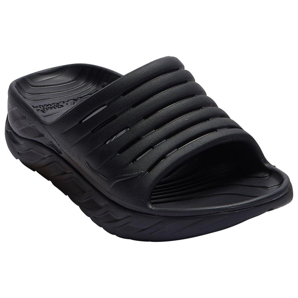 ホカ オネオネ HOKA ONE ONE レディース サンダル・ミュール シューズ・靴【Ora Recovery Slide】Black/Black