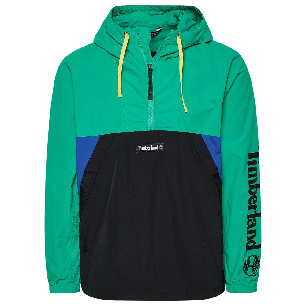 ティンバーランド Timberland メンズ ジャケット ウィンドブレーカー アウター【Windbreaker Pullover Jacket】Deep Mint/Black
