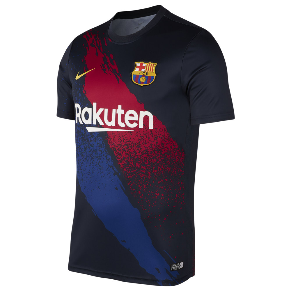 ナイキ Nike メンズ サッカー トップス【Soccer Dry S/S Top】Soccer International Clubs Barcelona Dark Obsidian/Varsity Maize