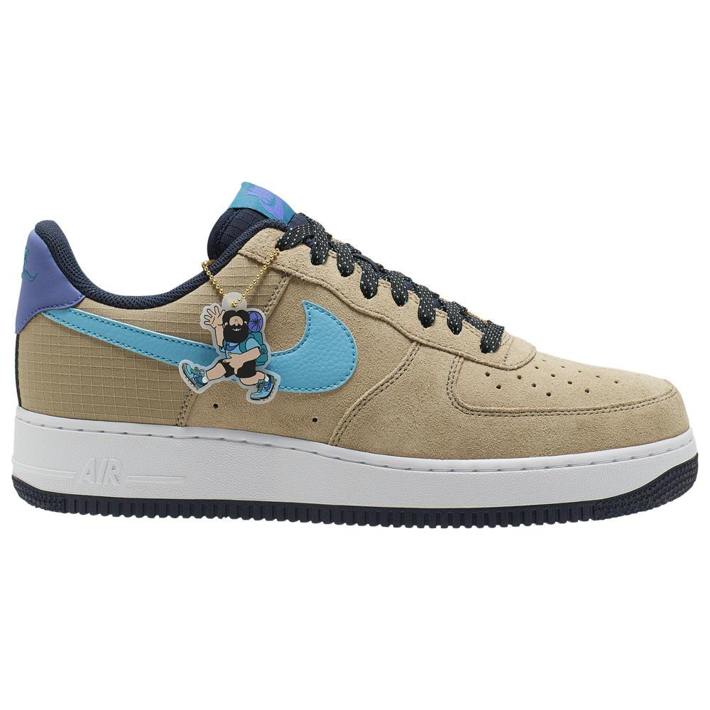 ナイキ Nike メンズ スニーカー エアフォースワン シューズ・靴【Air Force 1 LV8】Khaki/Blue Fury/Persian Violet