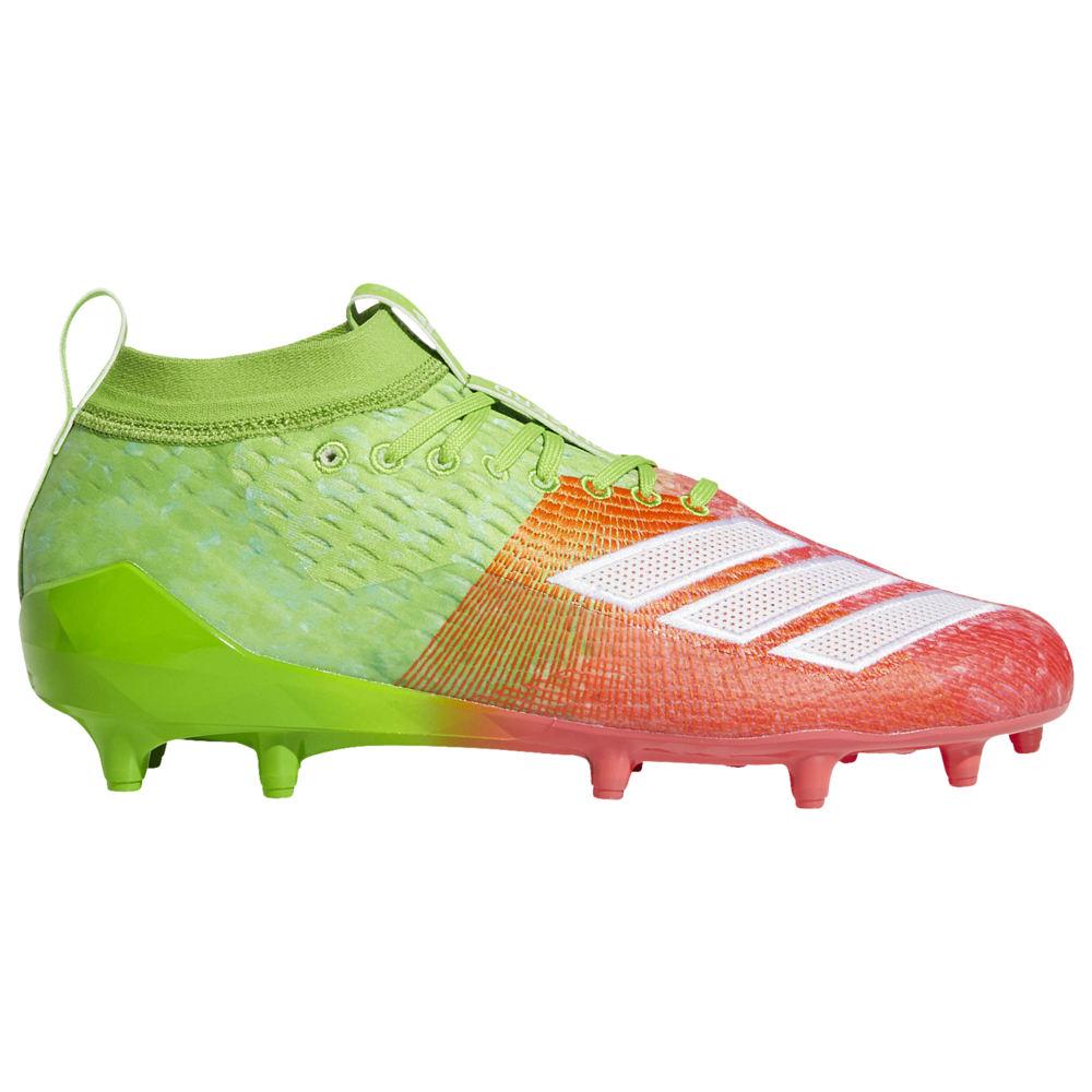 アディダス adidas メンズ アメリカンフットボール シューズ・靴【adiZero 8.0 Snowcone】Semi Solar Green/White/Red