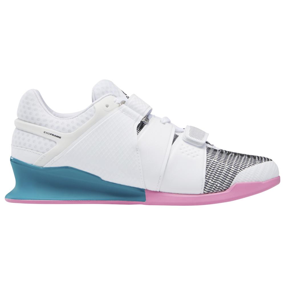 リーボック Reebok メンズ フィットネス・トレーニング シューズ・靴【Legacy Lifter】White/Seaport Teal/Posh Pink