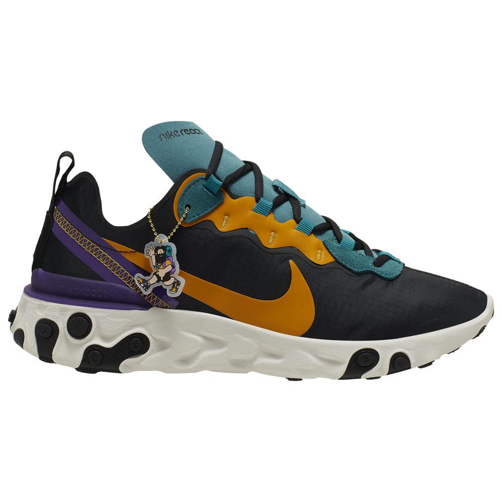 ナイキ Nike メンズ ランニング・ウォーキング シューズ・靴【React Element 55】Black/Pollen Rise/Mineral Teal Premium