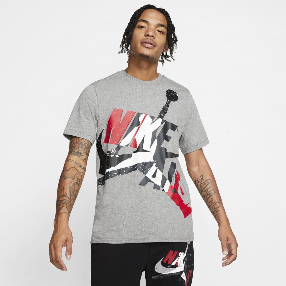 ナイキ ジョーダン Jordan メンズ バスケットボール ジャンプマン Tシャツ トップス【Jumpman Classics HBR T-Shirt】Carbon Heather/White/Gym Red