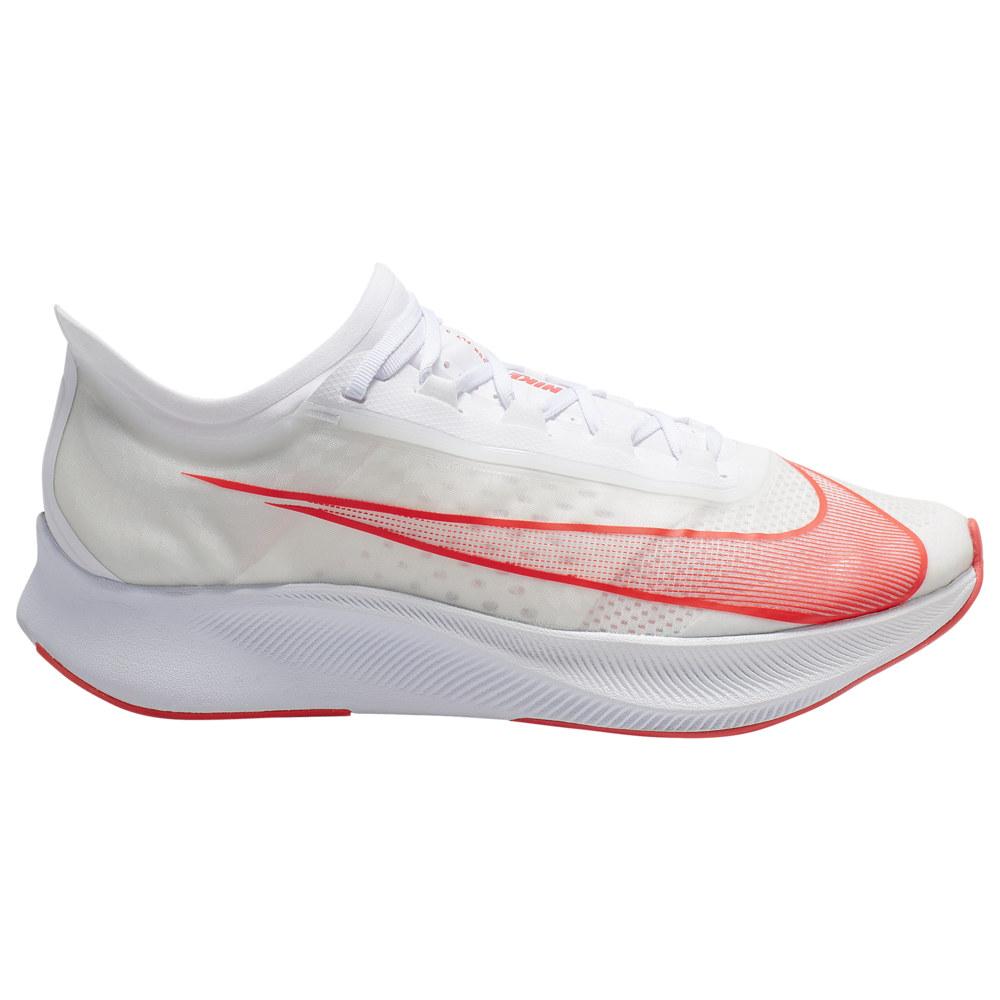 ナイキ Nike メンズ ランニング・ウォーキング シューズ・靴【Zoom Fly 3】White/Laser Crimson/Summit White Red Lips Pack
