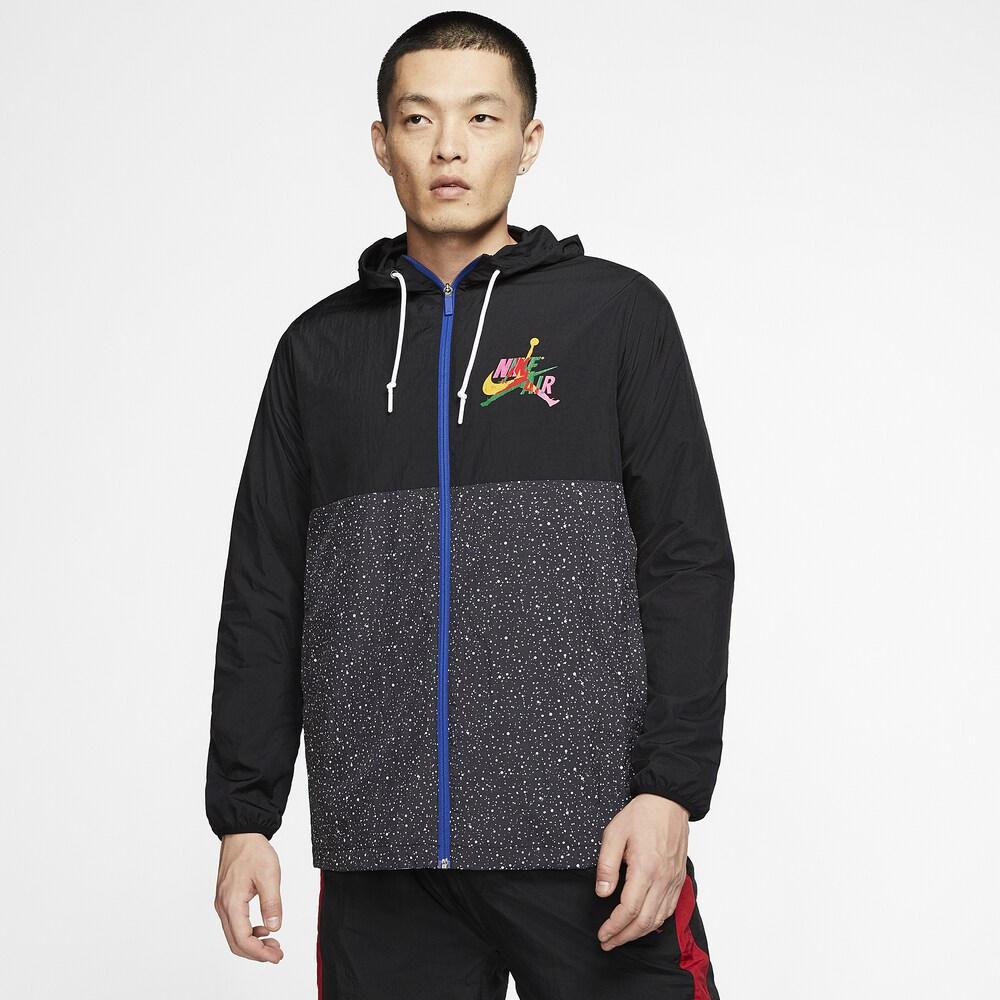 ナイキ ジョーダン Jordan メンズ バスケットボール ジャンプマン ジャケット アウター【Jumpman Classics Windwear Jacket】Black/White/Rush Blue/Field Purple