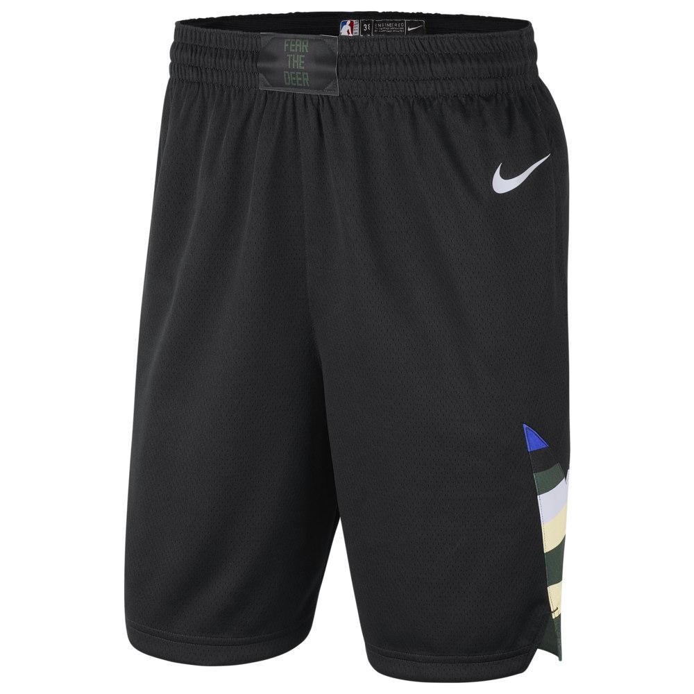 ナイキ Nike メンズ バスケットボール ショートパンツ ボトムス・パンツ【NBA Swingman Shorts】NBA Milwaukee Bucks Black