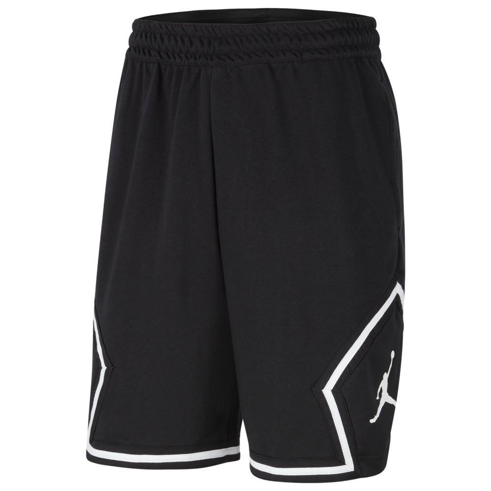 ナイキ ジョーダン Jordan メンズ バスケットボール ジャンプマン ショートパンツ ボトムス・パンツ【Jumpman Fleece Diamond Shorts】Black/White