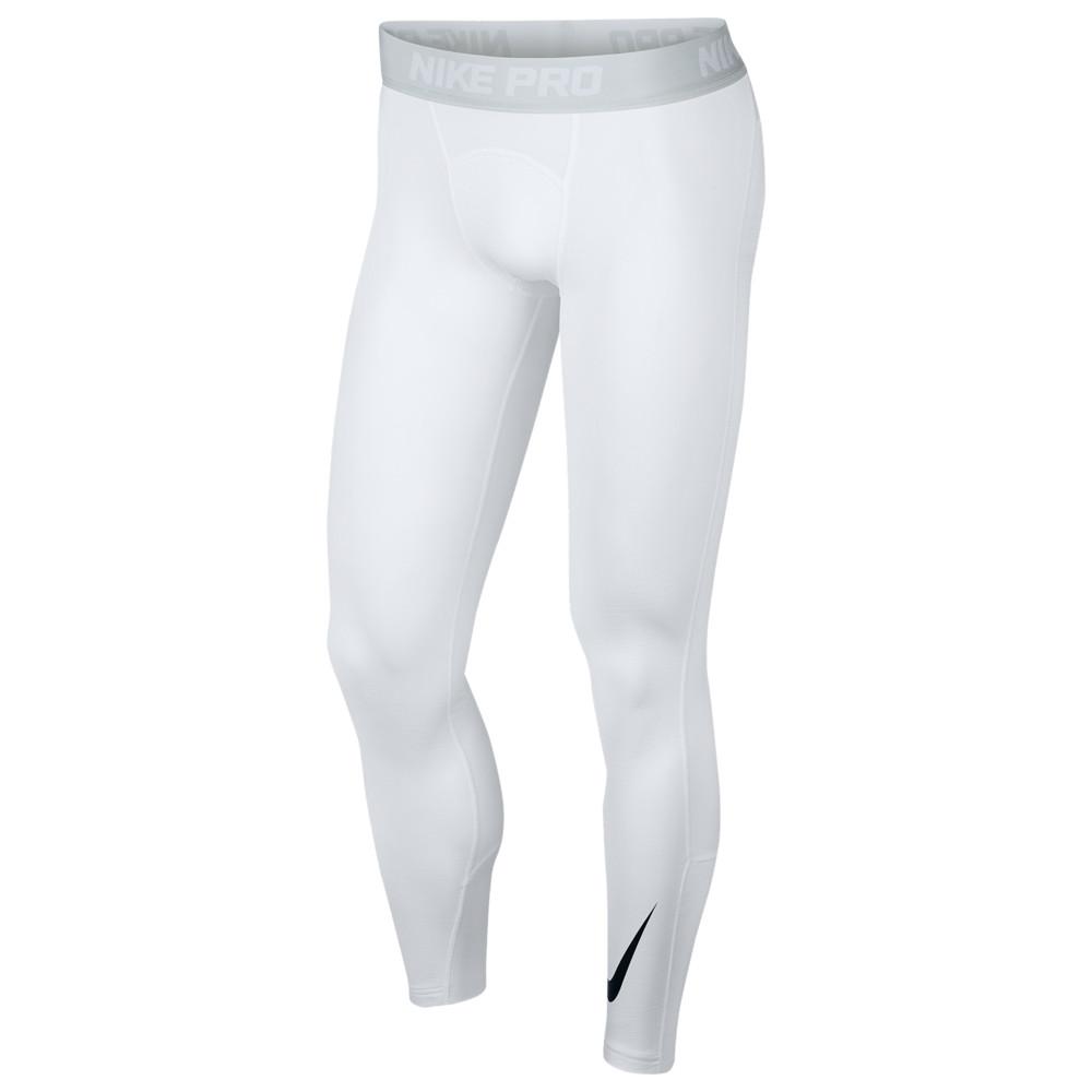 ナイキ Nike メンズ フィットネス・トレーニング タイツ・スパッツ ボトムス・パンツ【Pro Therma Tights】White/Pure Platinum/Black