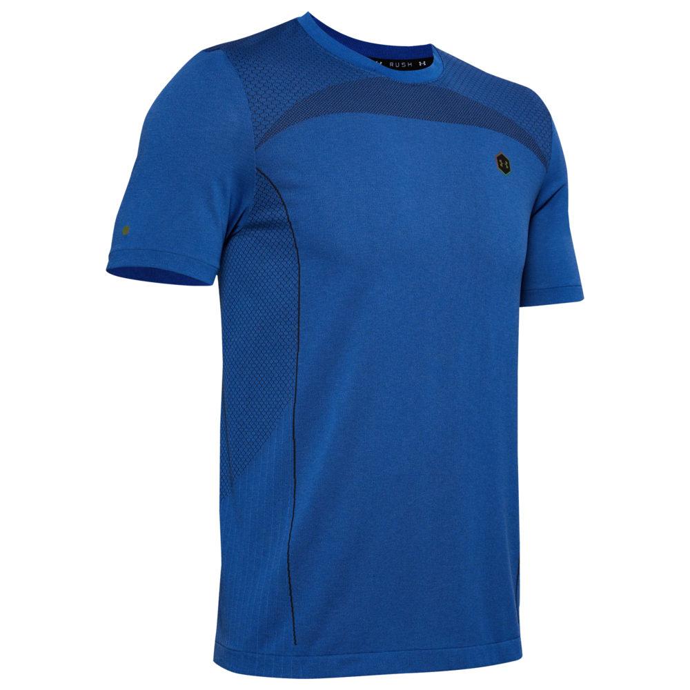 アンダーアーマー Under Armour メンズ フィットネス・トレーニング Tシャツ トップス【Seamless HG Fitted T-Shirt】Versa Blue/Black