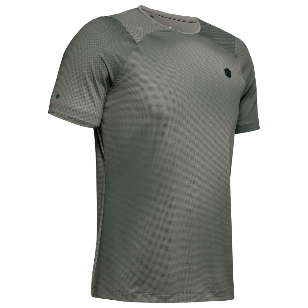 アンダーアーマー Under Armour メンズ フィットネス・トレーニング Tシャツ トップス【Rush Fitted T-Shirt】Gravity Green/Black