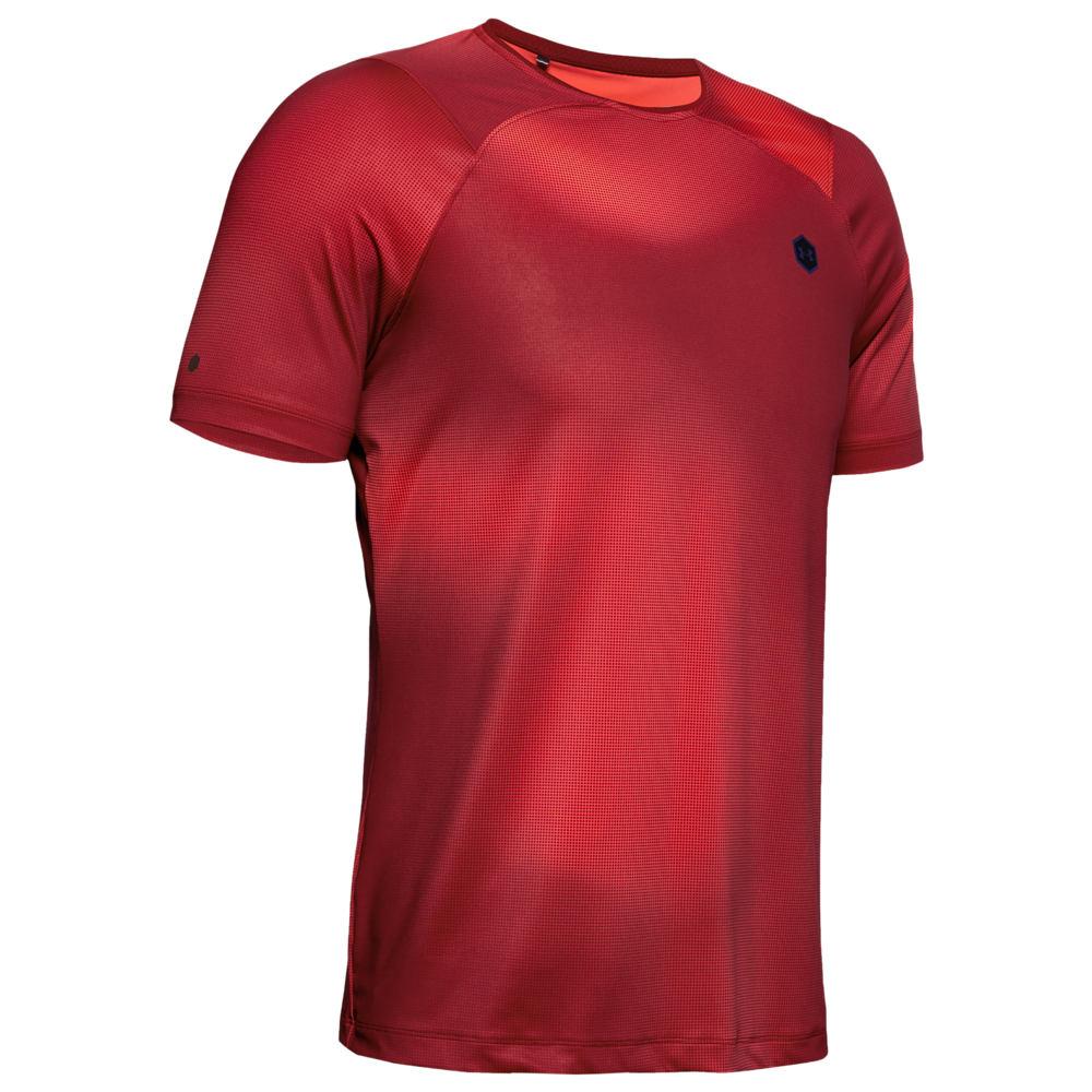 アンダーアーマー Under Armour メンズ フィットネス・トレーニング Tシャツ トップス【Rush Fitted T-Shirt】Cordova/Black