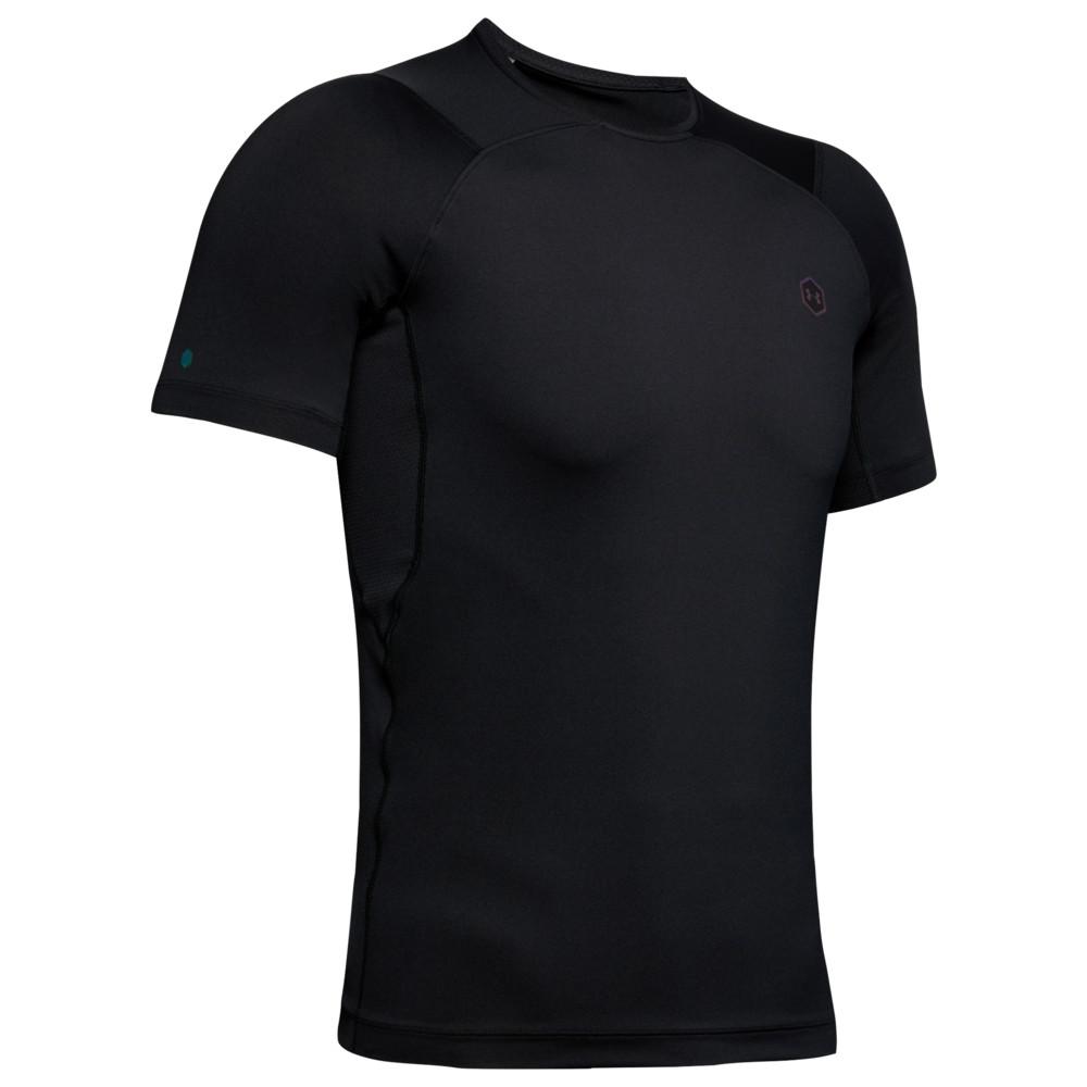 アンダーアーマー Under Armour メンズ フィットネス・トレーニング Tシャツ トップス【Rush Compression T-Shirt】Black/Black