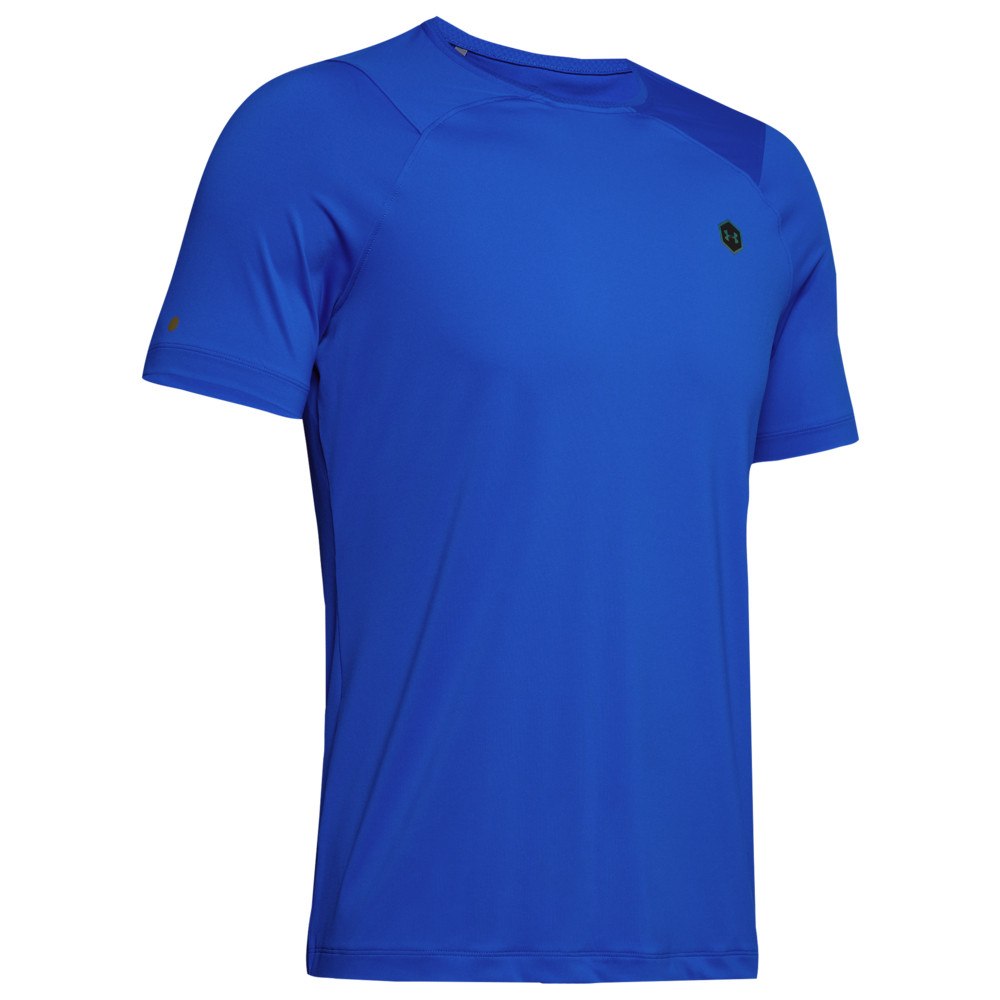 アンダーアーマー Under Armour メンズ フィットネス・トレーニング Tシャツ トップス【Rush Fitted T-Shirt】Versa Blue/Black