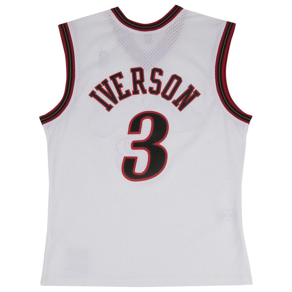 ミッチェル&ネス Mitchell & Ness メンズ バスケットボール トップス【NBA Swingman Jersey】NBA Philadelphia ers Allen Iverson White to