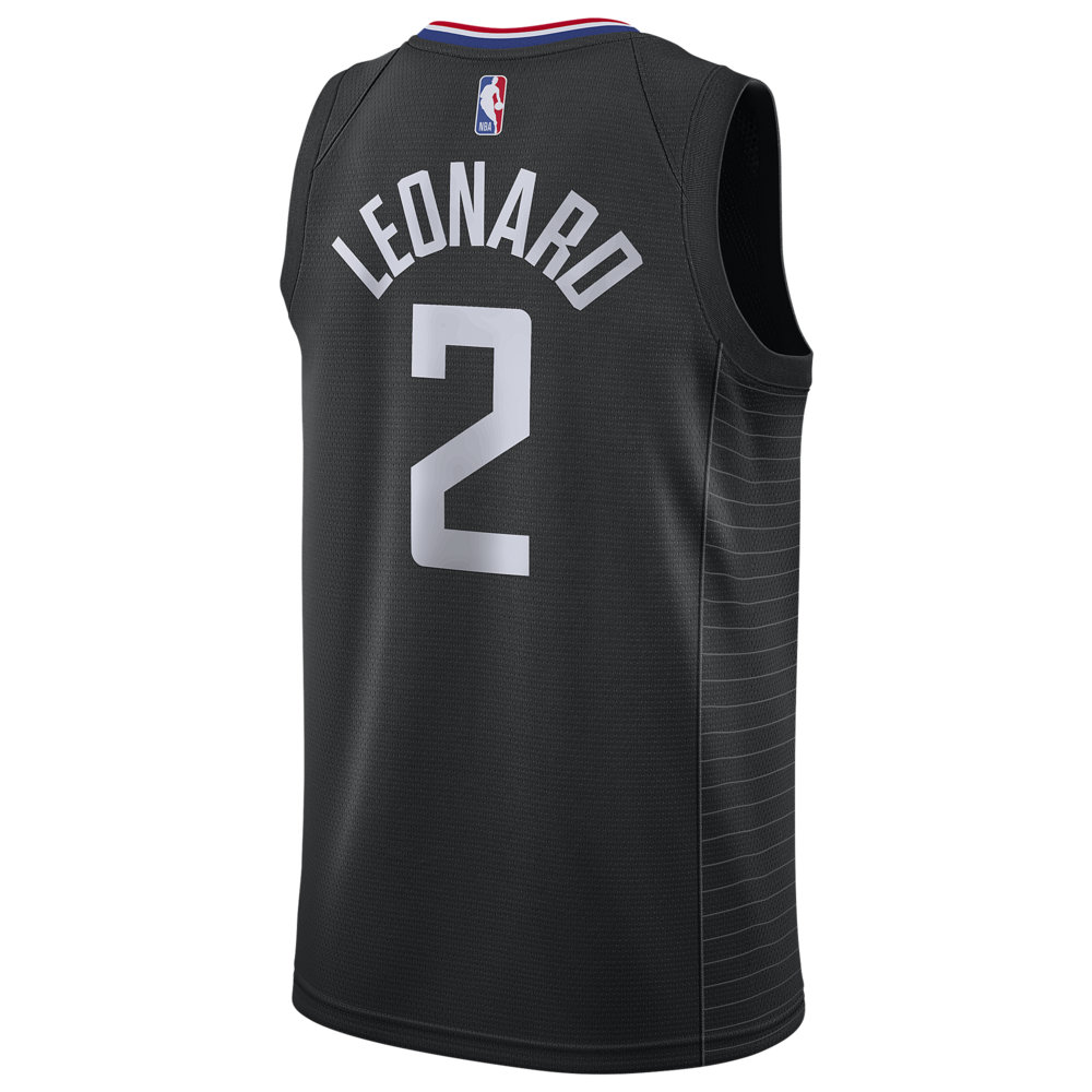 ナイキ Nike メンズ バスケットボール トップス【NBA Swingman Jersey】NBA Los Angeles Clippers Kawhi Leonard Black Alt