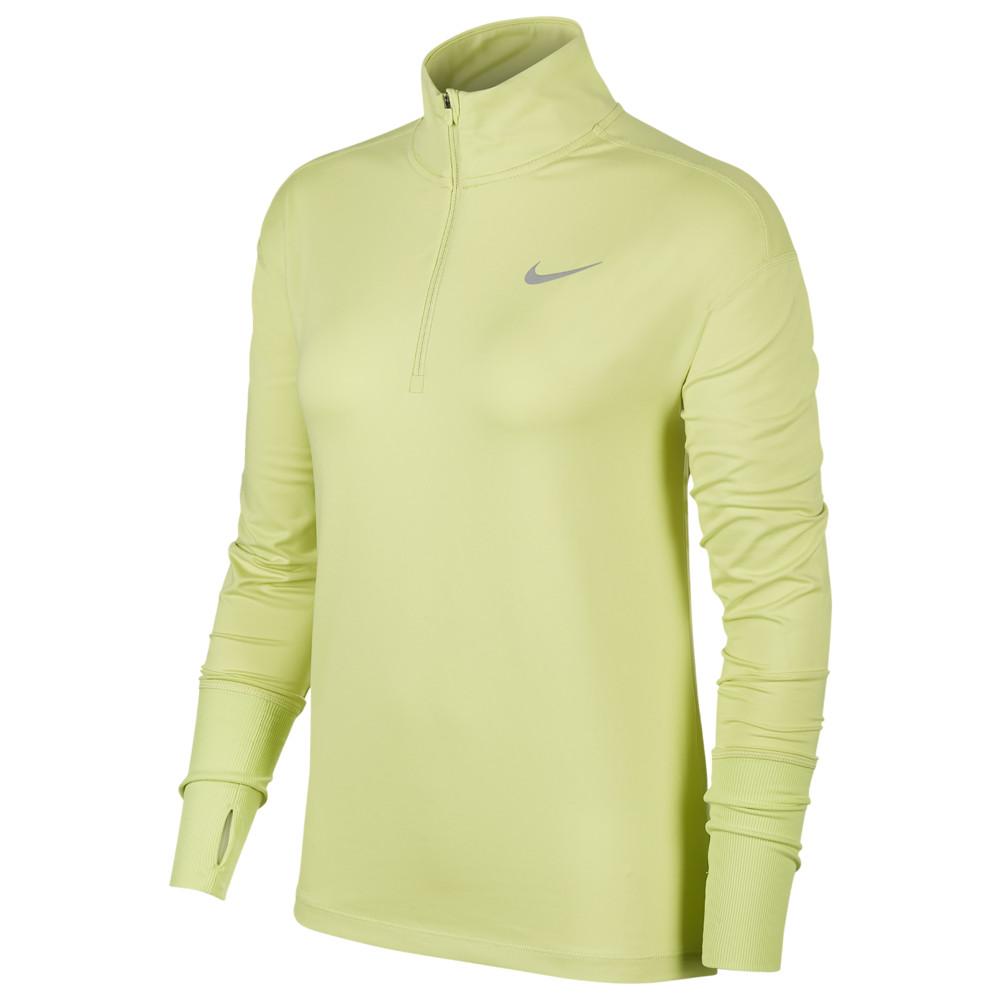 ナイキ Nike レディース フィットネス・トレーニング ハーフジップ トップス【Element 1/2 Zip Top】Limelight/Reflective Silver Reflective Silver