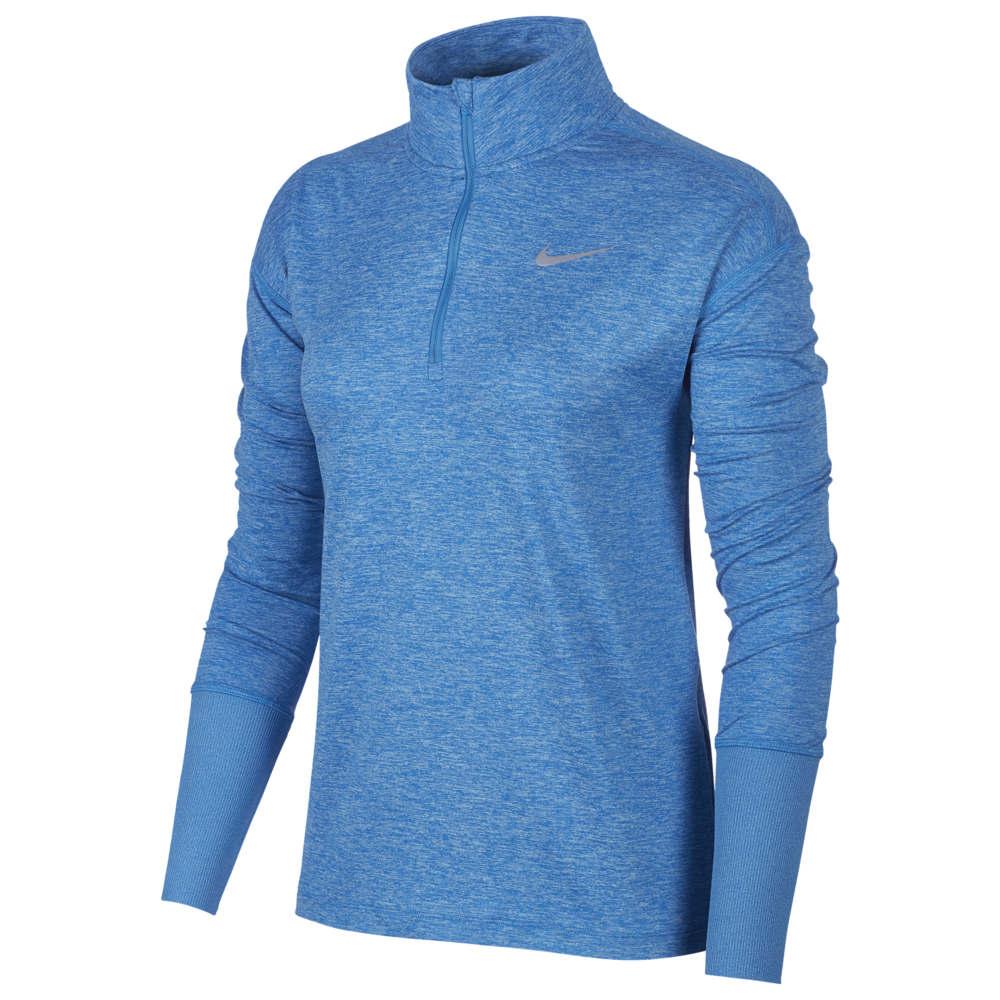 ナイキ Nike レディース フィットネス・トレーニング ハーフジップ トップス【Element 1/2 Zip Top】Photo Blue/University Blue/Heather/Reflective