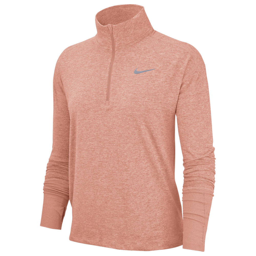 ナイキ Nike レディース フィットネス・トレーニング ハーフジップ トップス【Element 1/2 Zip Top】Pink Quartz/Echo Pink/Heather