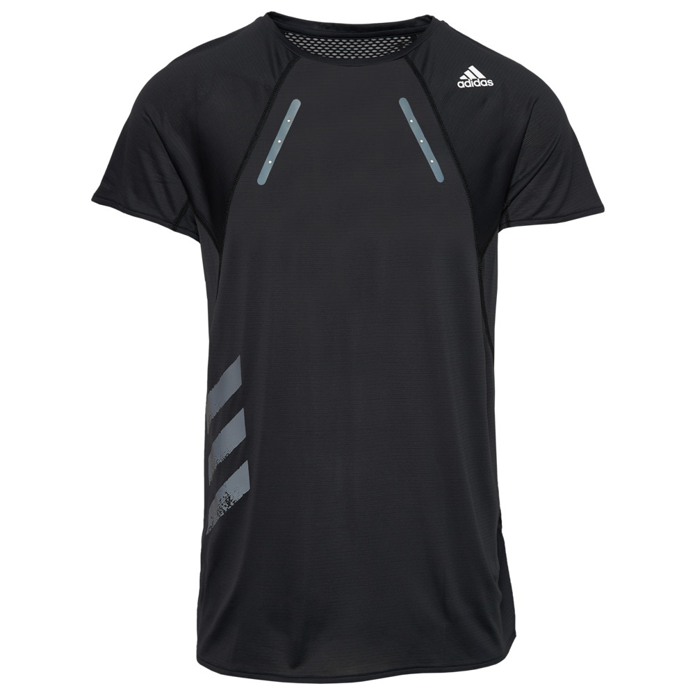 アディダス adidas メンズ ランニング・ウォーキング Tシャツ トップス【Heat Ready S/S T-Shirt】Black