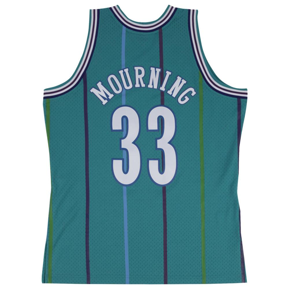ミッチェル&ネス Mitchell & Ness メンズ バスケットボール トップス【NBA Swingman Jersey】NBA Charlotte Hornets Alonzo Mourning Teal to