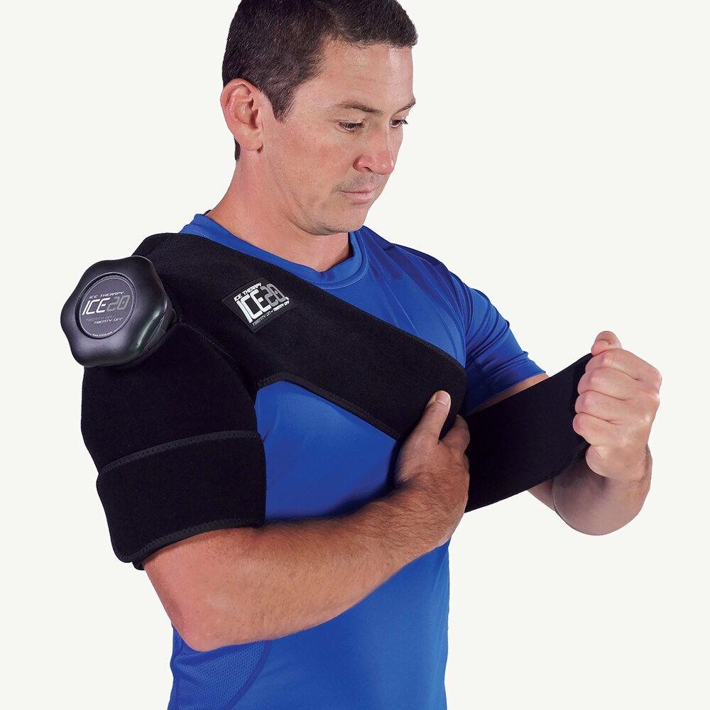 アイス20 Ice20 ユニセックス フィットネス・トレーニング 【Single Shoulder Ice Compression Wrap】Black