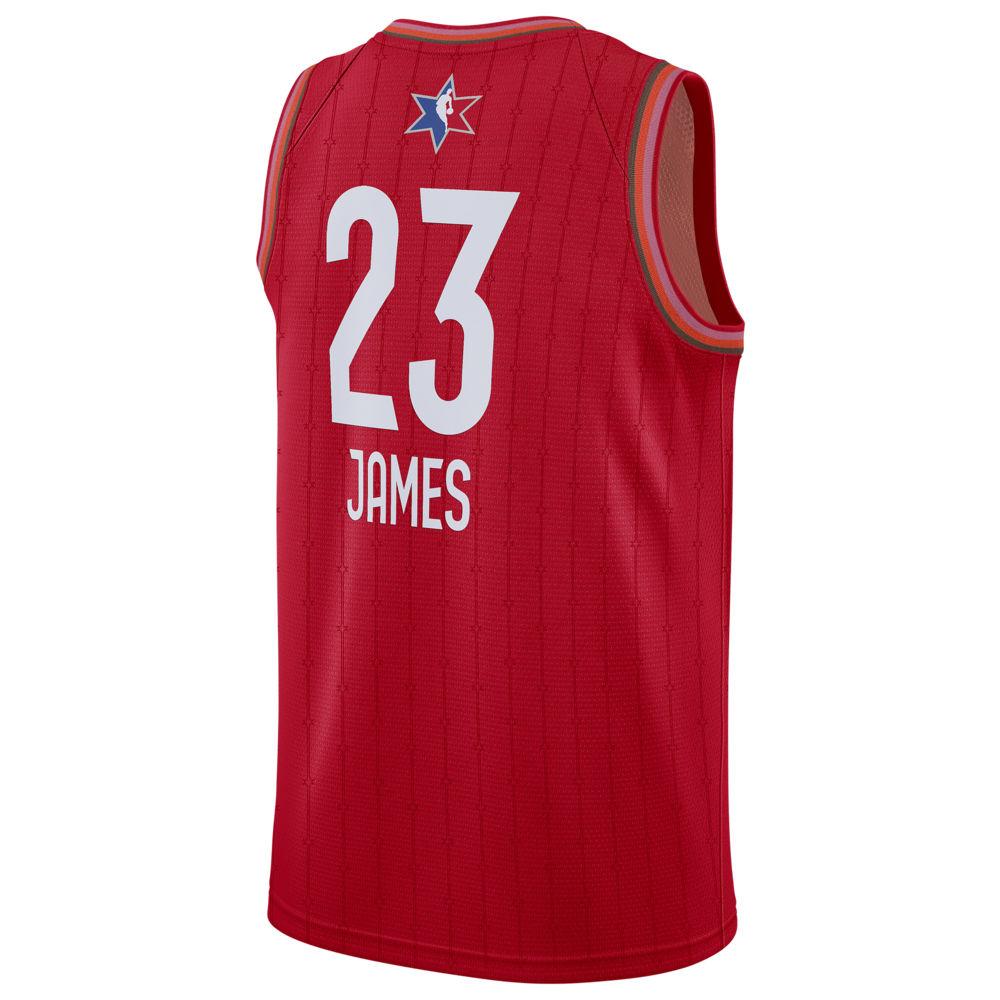 ナイキ ジョーダン Jordan メンズ バスケットボール トップス【NBA All-Star Game Swingman Jersey】NBA Los Angeles Lakers Lebron James Red