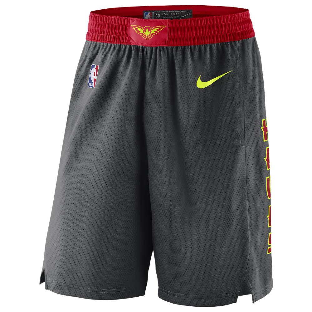 ナイキ Nike メンズ バスケットボール ショートパンツ ボトムス・パンツ【NBA Swingman Shorts】NBA Atlanta Hawks Anthracite/University Red