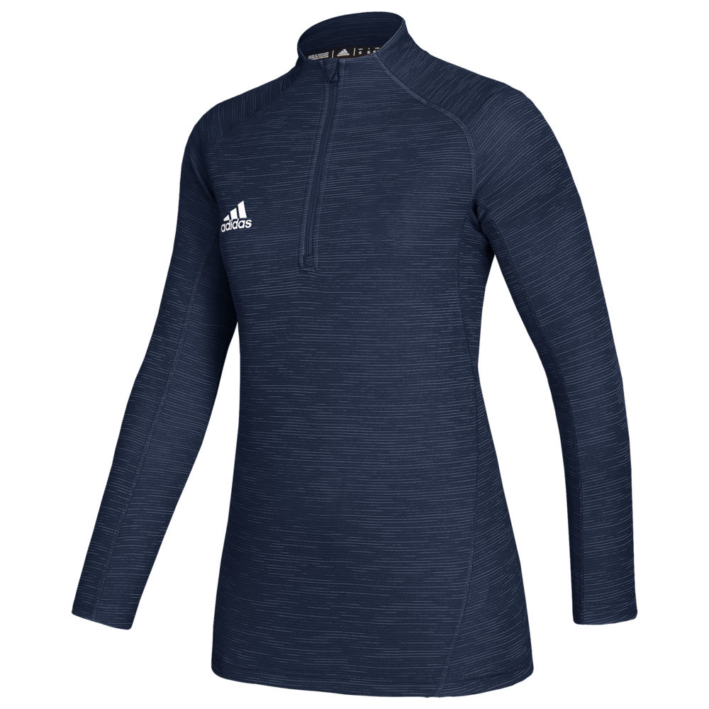 アディダス adidas レディース トップス 【Team Game Mode Performance 1/4 Zip】Collegiate Navy Melange/White