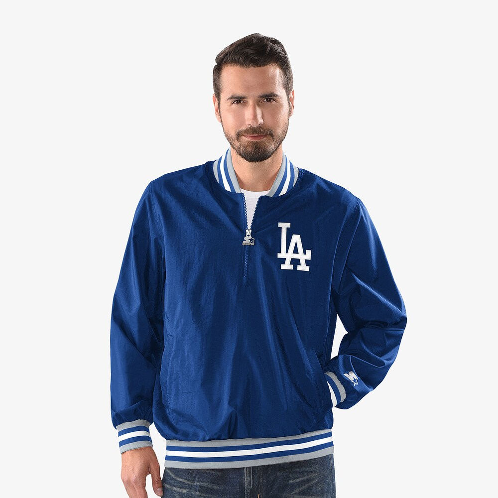 スターター Starter メンズ ジャケット ハーフジップ フード アウター【MLB Jet 1/2 Zip Hooded PO Jacket】MLB Los Angeles Dodgers Royal