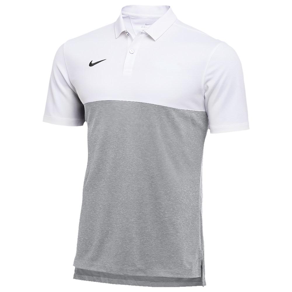 ナイキ Nike メンズ ポロシャツ トップス【Team Authentic Dry S/S Colorblock Polo】White/Flat Silver/Black