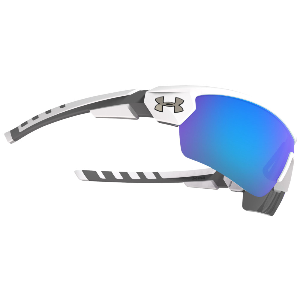 アンダーアーマー Under Armour ユニセックス スポーツサングラス 【Rival Sunglasses】Satin White Frame/Blue Multiflection Lens