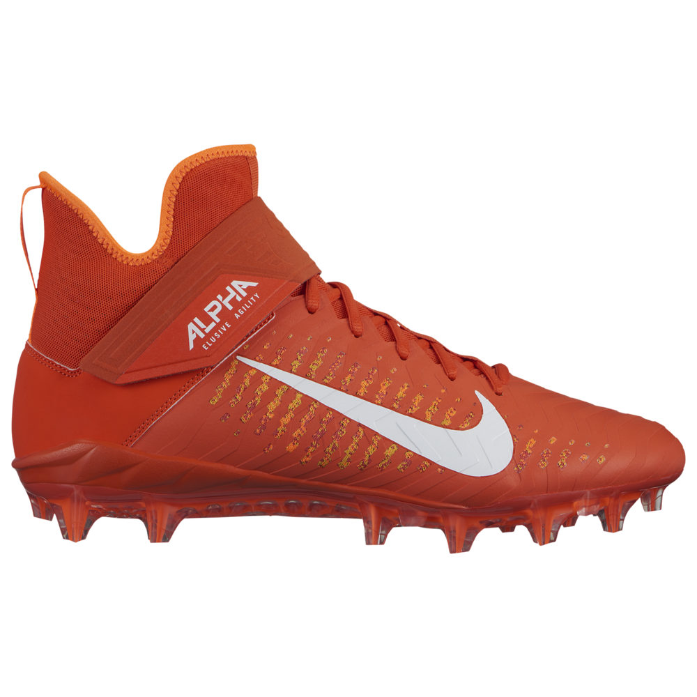 ナイキ Nike メンズ アメリカンフットボール シューズ・靴【Alpha Menace Pro 2 MID】Team Orange/White/Total Orange