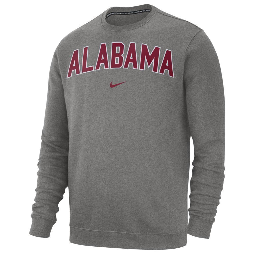 ナイキ Nike メンズ フリース トップス【College Club Fleece Crew】NCAA Alabama Crimson Tide Dark Grey Heather
