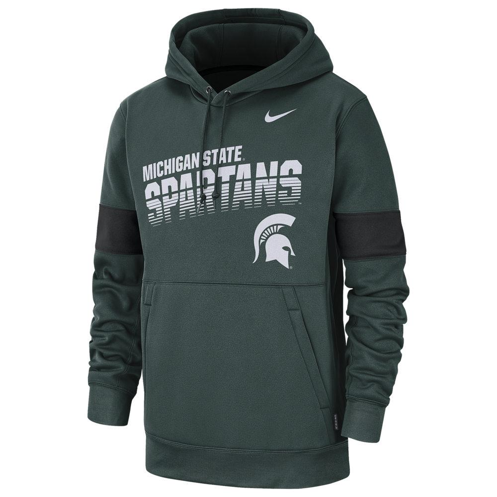 ナイキ Nike メンズ パーカー トップス【College Therma Pullover Hoodie】NCAA Michigan State Spartans Pro Green
