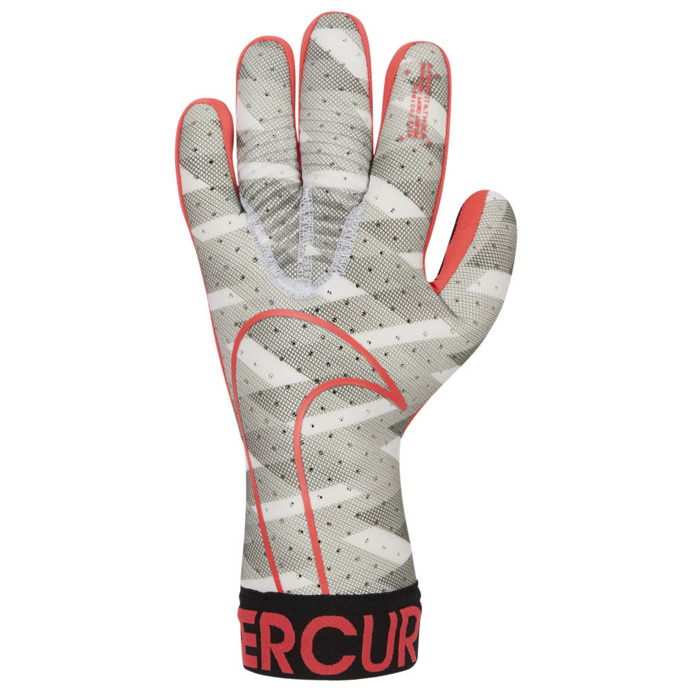 ナイキ Nike ユニセックス サッカー ゴールキーパー グローブ【Mercurial Touch Elite Goalkeeper Gloves】White/Black/Laser Crimson