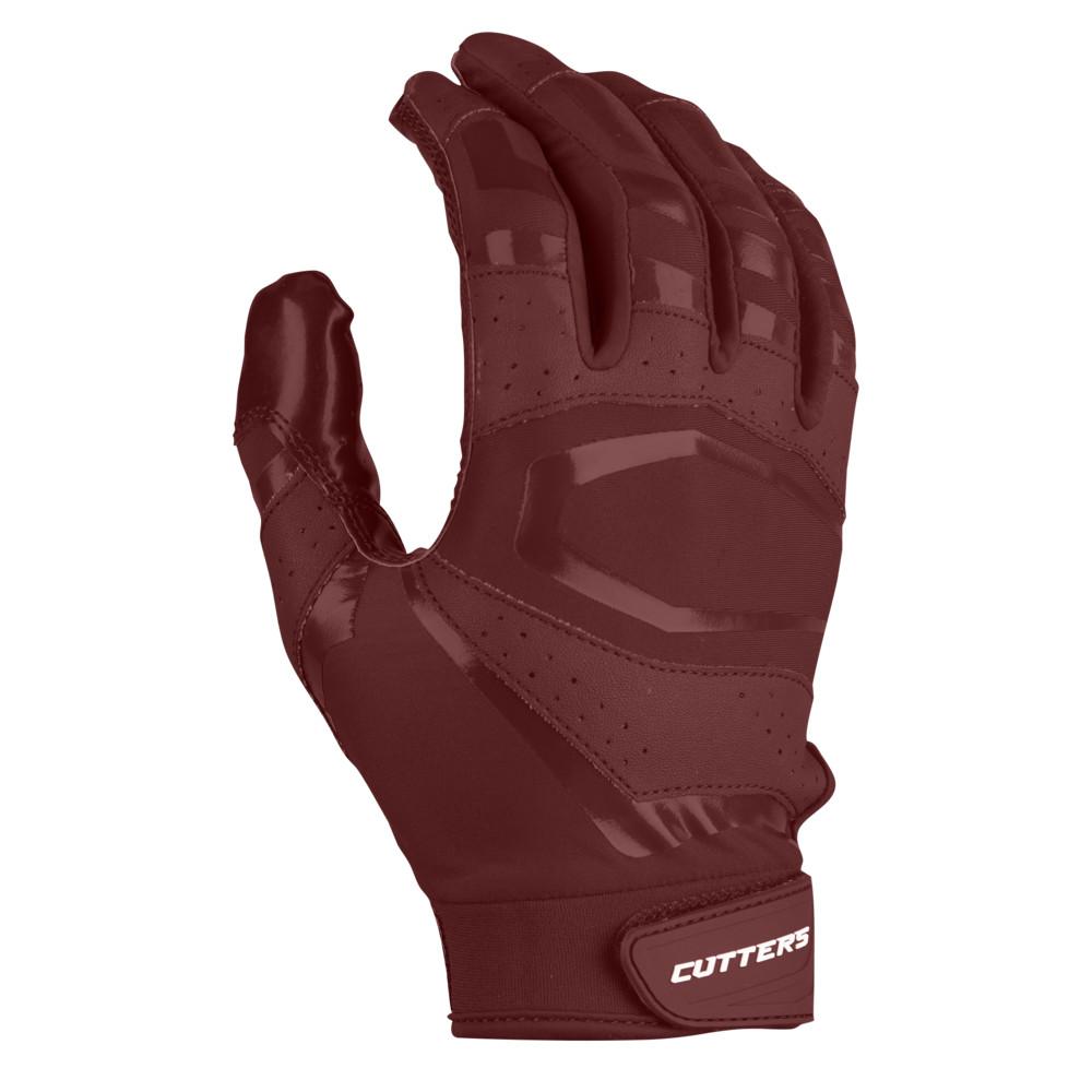 カッターズ Cutters メンズ アメリカンフットボール レシーバーグローブ グローブ【Rev Pro 3.0 Solid Receiver Gloves】Maroon Exclusive