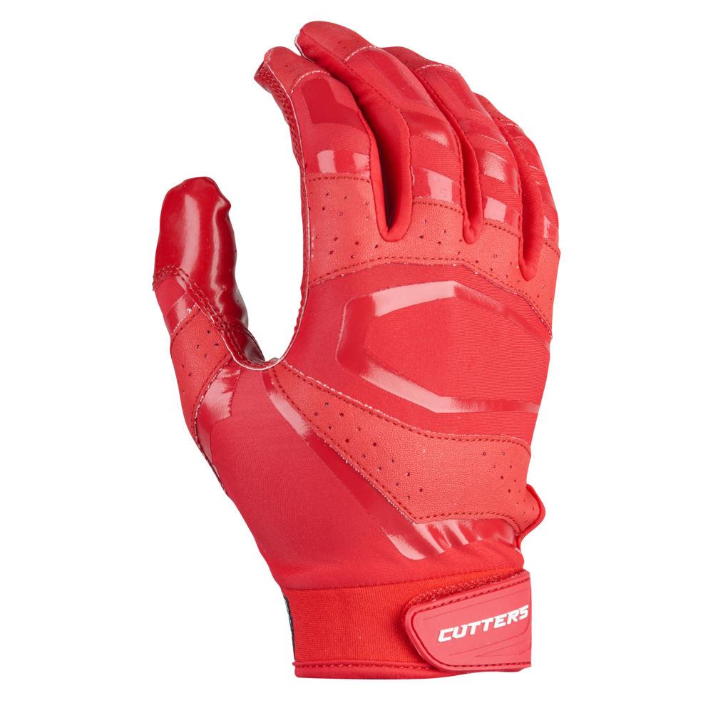 カッターズ Cutters メンズ アメリカンフットボール レシーバーグローブ グローブ【Rev Pro 3.0 Solid Receiver Gloves】Red