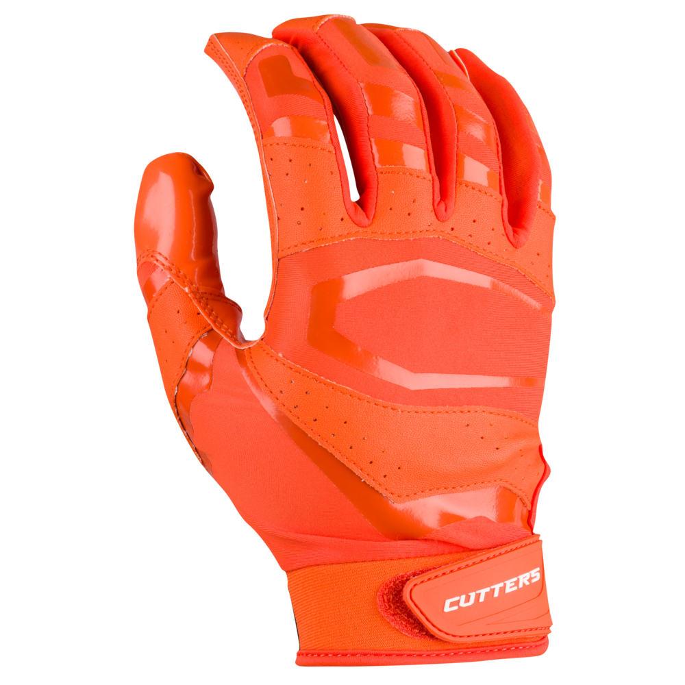 カッターズ Cutters メンズ アメリカンフットボール レシーバーグローブ グローブ【Rev Pro 3.0 Solid Receiver Gloves】Orange Exclusive