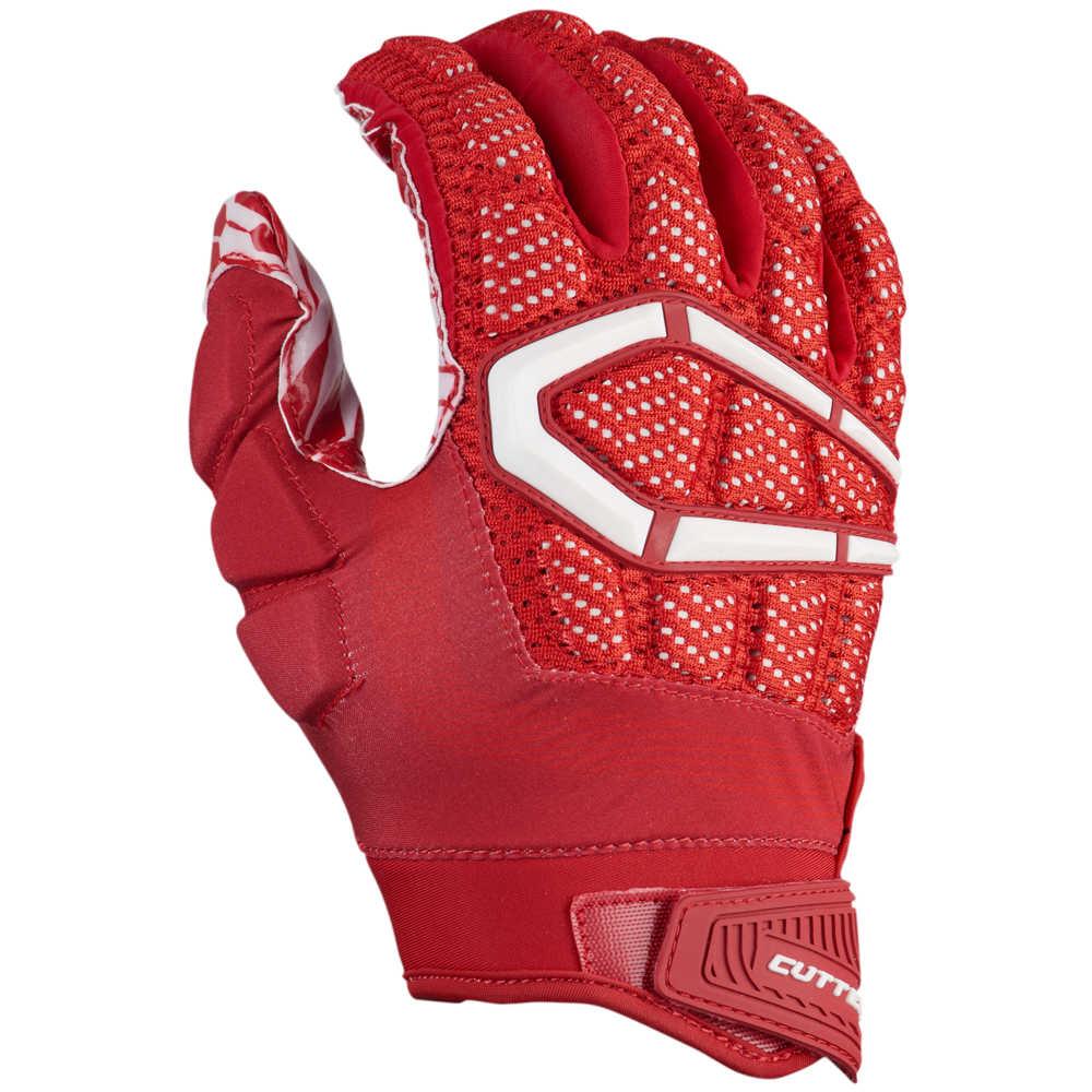 カッターズ Cutters メンズ アメリカンフットボール グローブ【Gamer 3.0 Padded Football Gloves】Red