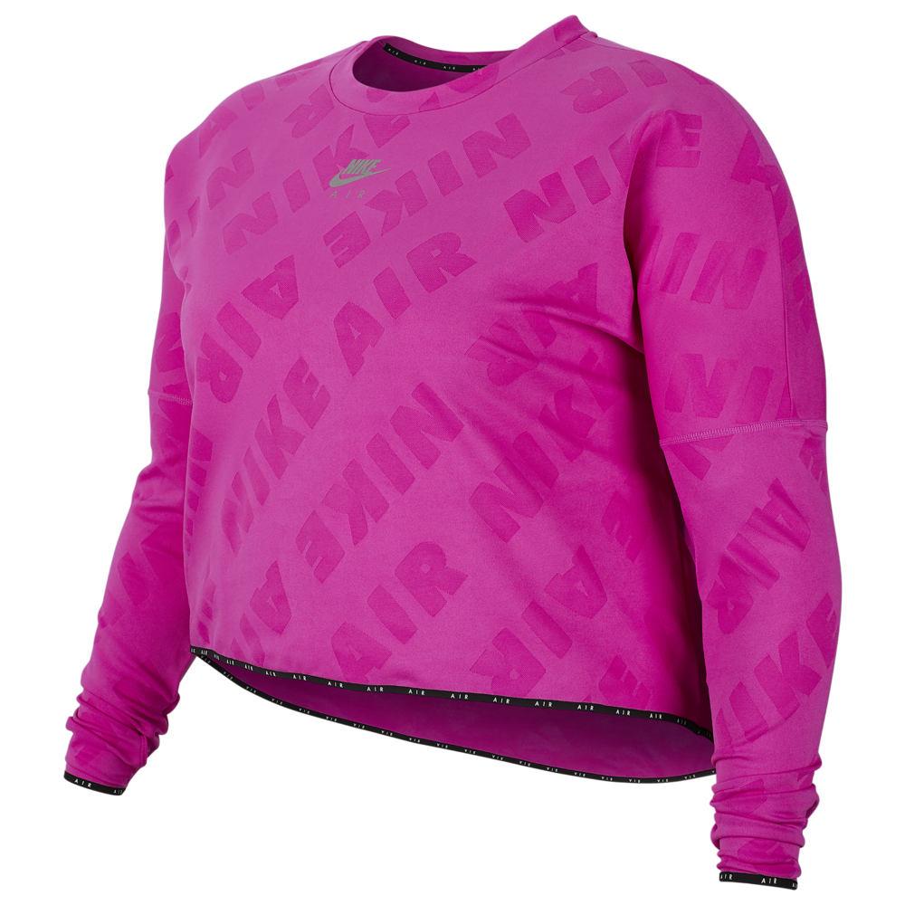 ナイキ Nike レディース フィットネス・トレーニング ミッドレイヤー 大きいサイズ ボトムス・パンツ【Plus Size Air Midlayer Crew】Fire Pink/Reflective Silver