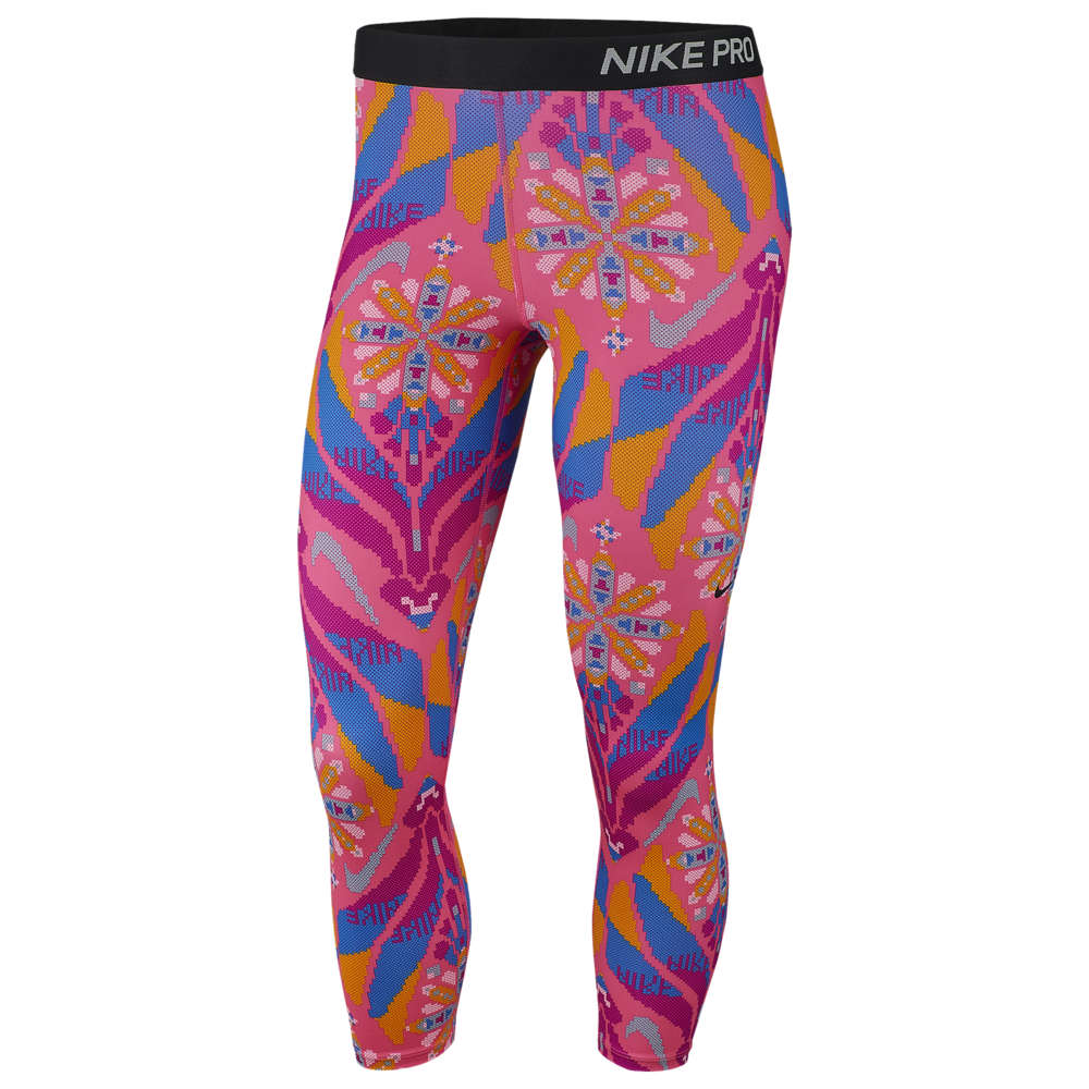 ナイキ Nike レディース フィットネス・トレーニング スパッツ・レギンス ボトムス・パンツ【Pro Crop Tights】Hyper Pink Future Femme