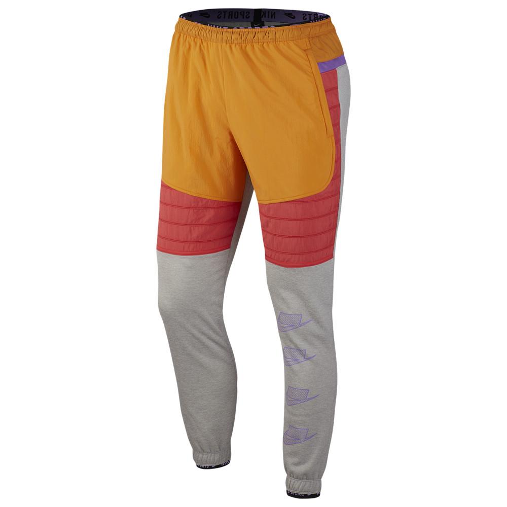ナイキ Nike メンズ フィットネス・トレーニング ボトムス・パンツ【Therma Fleece PX Pants】Grey Heather/Kumquat/Ember Glow Sport Clash